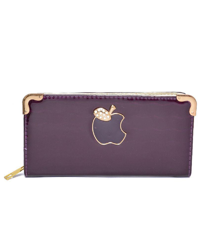 Deco Purple Designer Trendy Women's Wallet