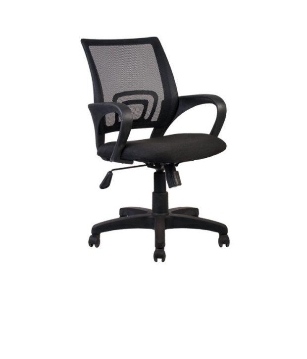 Seating World Back Recliner Black Mesh Revolving Office Chair