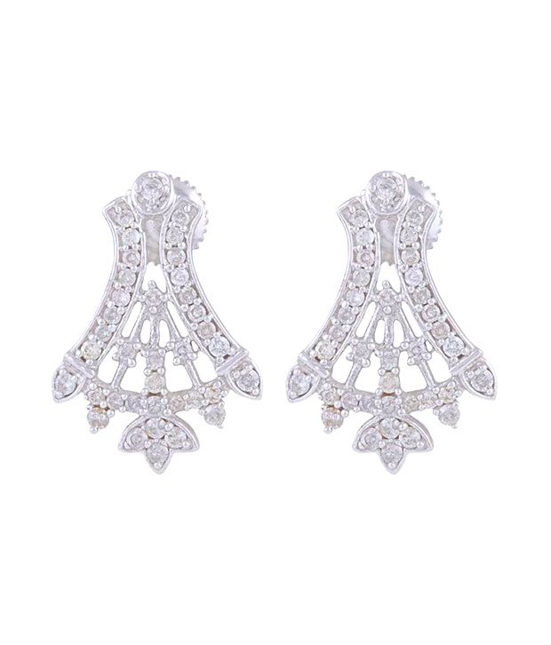 Mehrasons 18 Kt Gold 1.401 Ct Diamond Earrings