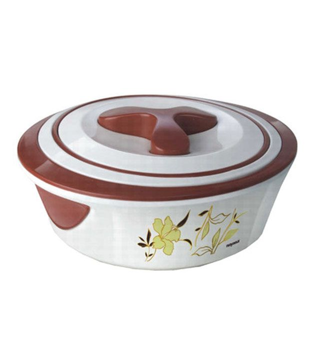 Nayasa Insulated Brown And White Casserole