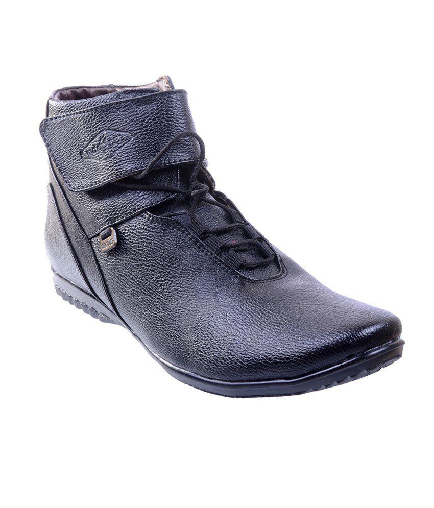 Porcupine Black Boots