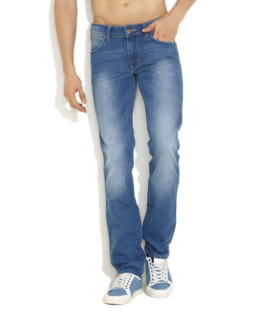 Wrangler Dark Blue Skanders Stonewashed Jeans