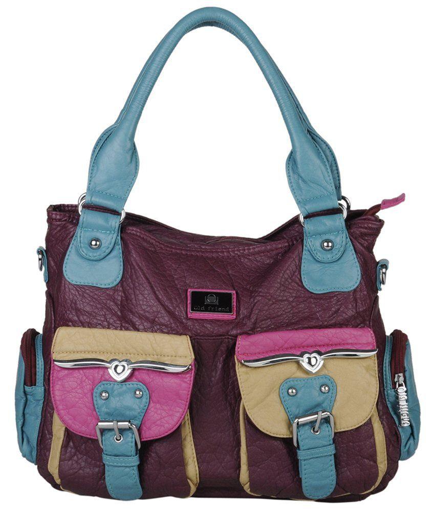 Glam Multicolor Leather Zip Shoulder Bag