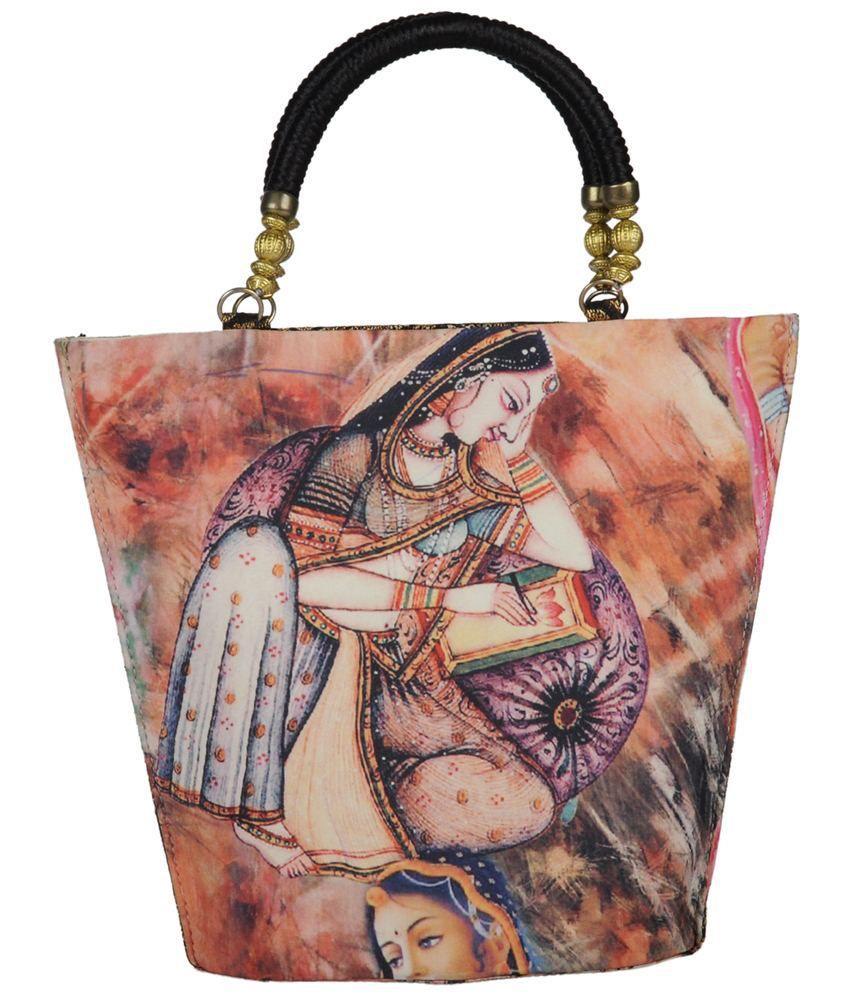 Glam Orange Others Zip Tote Bag