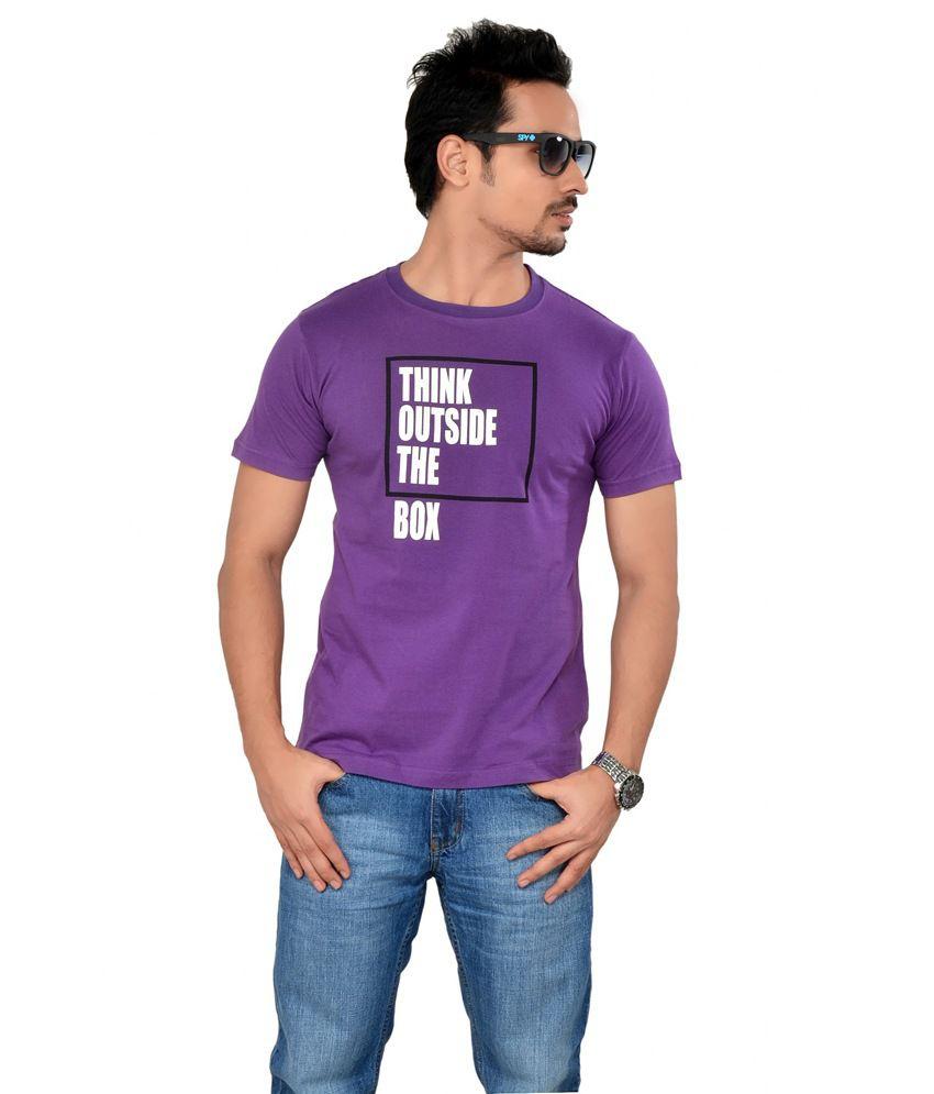 Tsg Escape Men'S Printed Round Neck T-Shirt-Purple