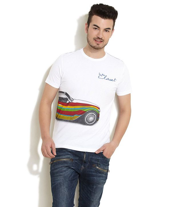 In The Closet Off White Chromatic Car Print Tee