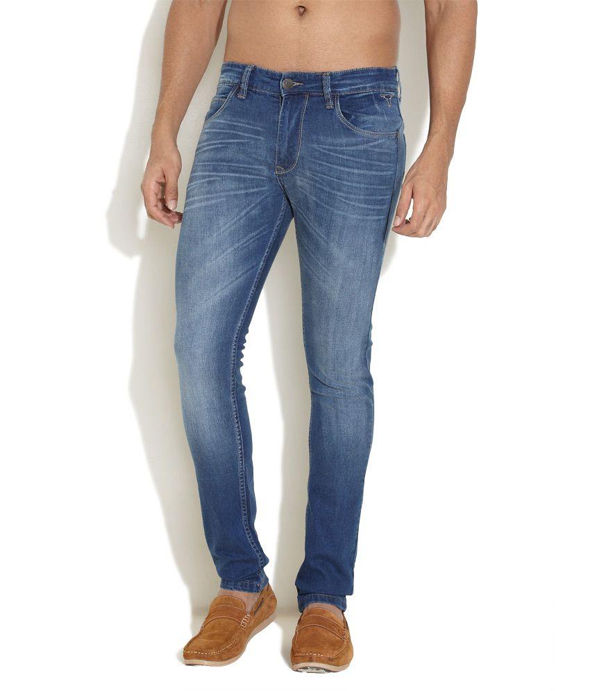 Le Bison Medium Blue Off-Duty Staple Jeans