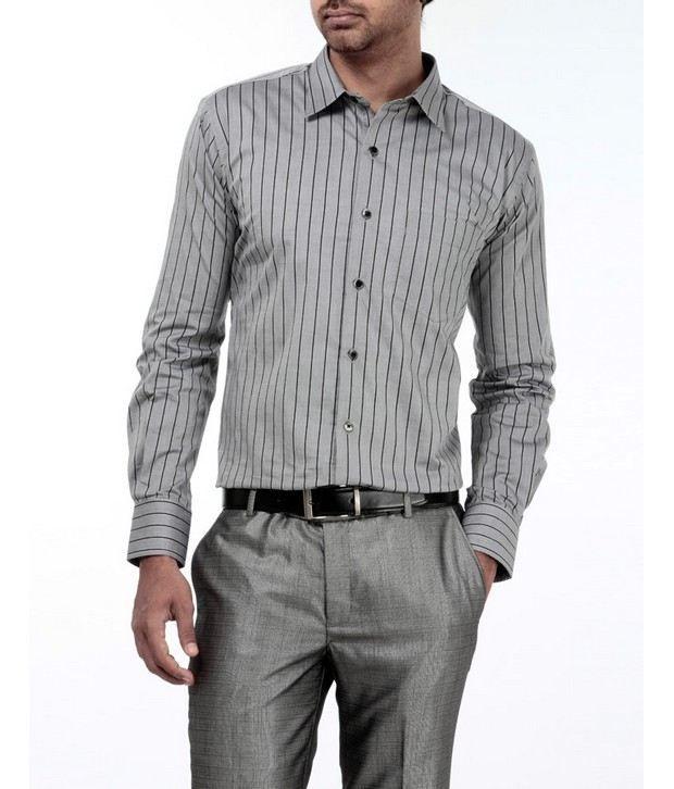 Genesis Grey Striped Shirt