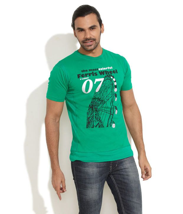 Canary London Green Ferris Wheeling T-Shirt