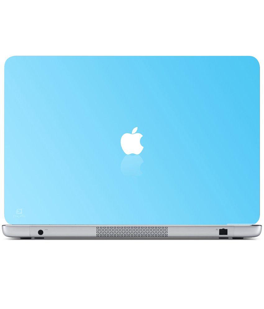 Finearts Textured Laptop Skin - Apple Blue Back - Buy ...