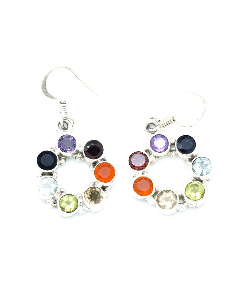 Yugshajewels Multicolor Quartz Dangle Earring