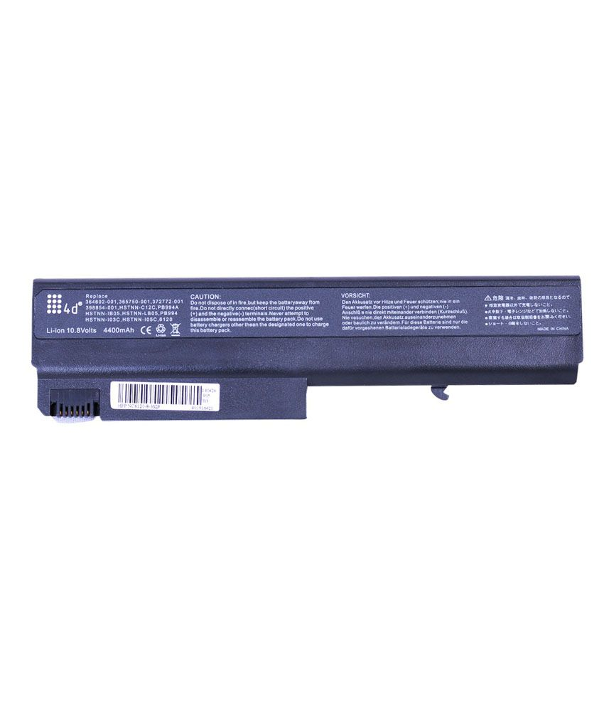 4D Hp Nc6220 6 Cell Laptop Battery