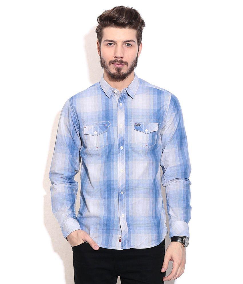 Being human blue formals shirt buy being human blue for Being human t shirts buy online india
