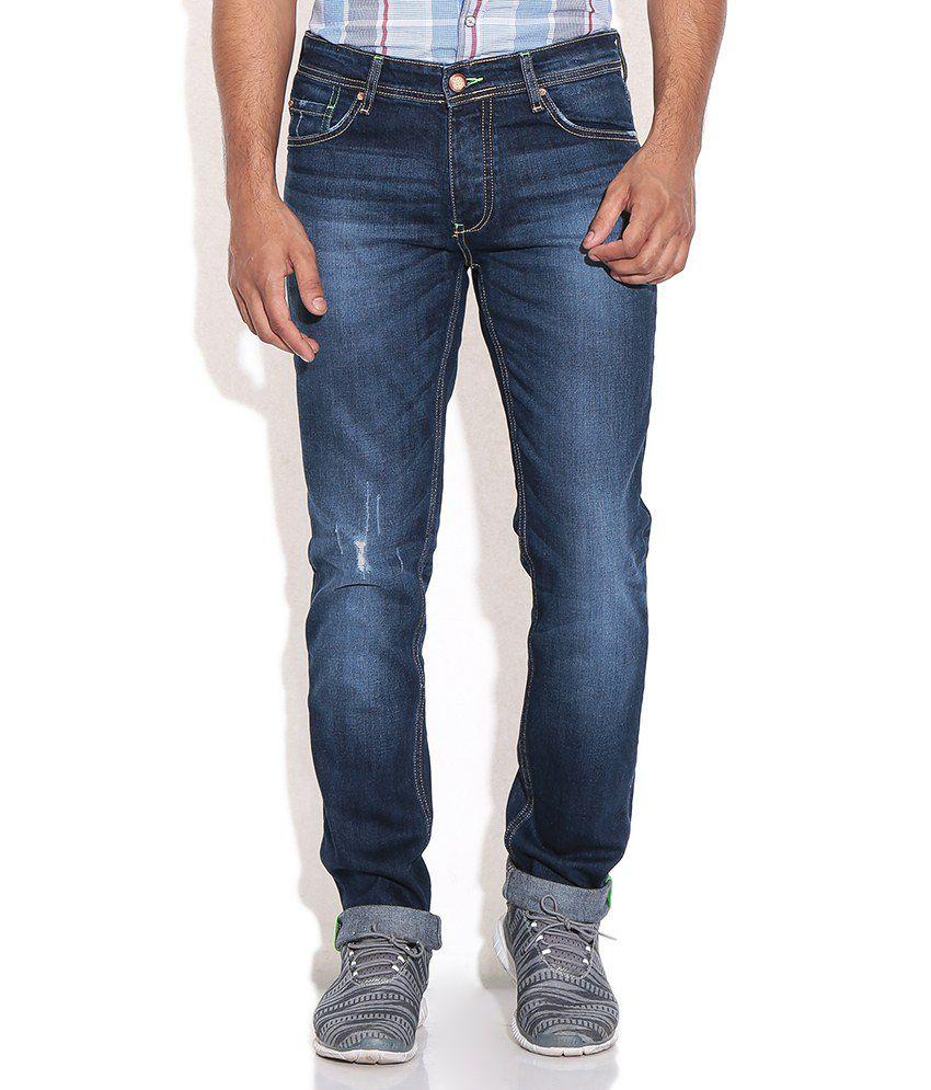 Being Human Blue Regular Jeans