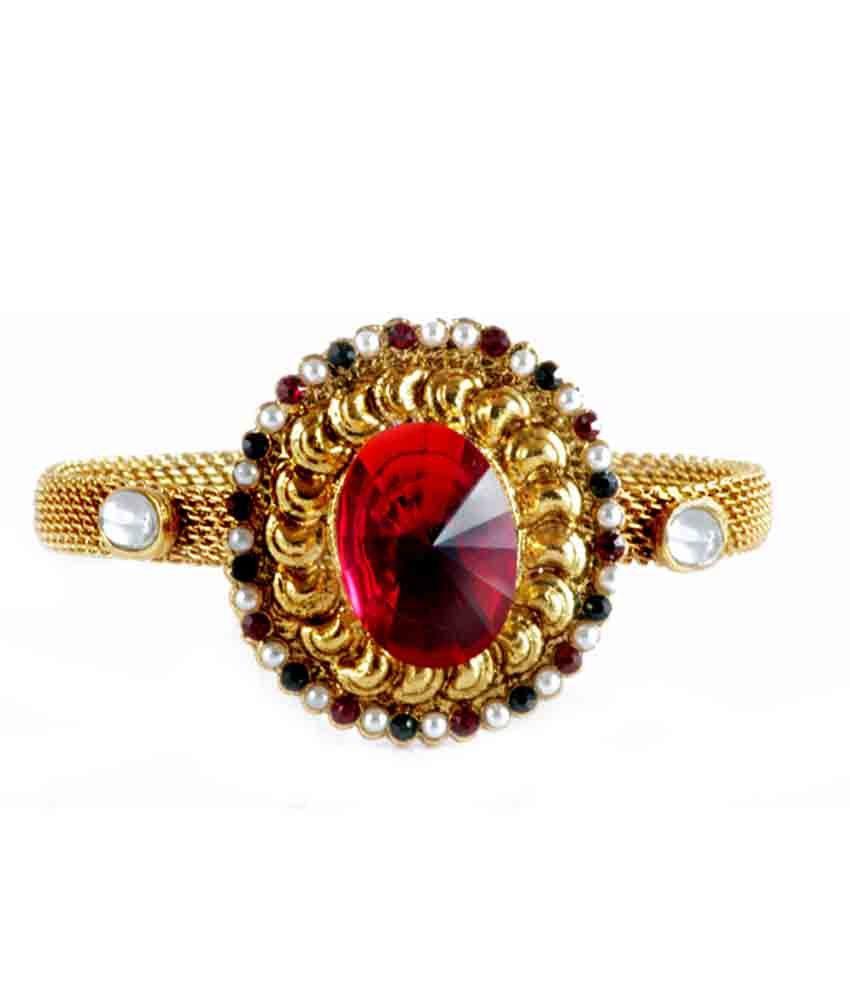 Noor Muunaayan's Red Noor Gold Plated Bracelet (Transperant)