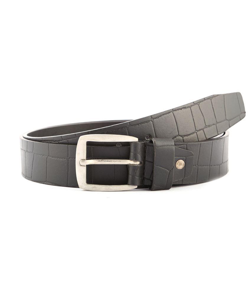 Buckleup Black Casual Leather Belt For Men