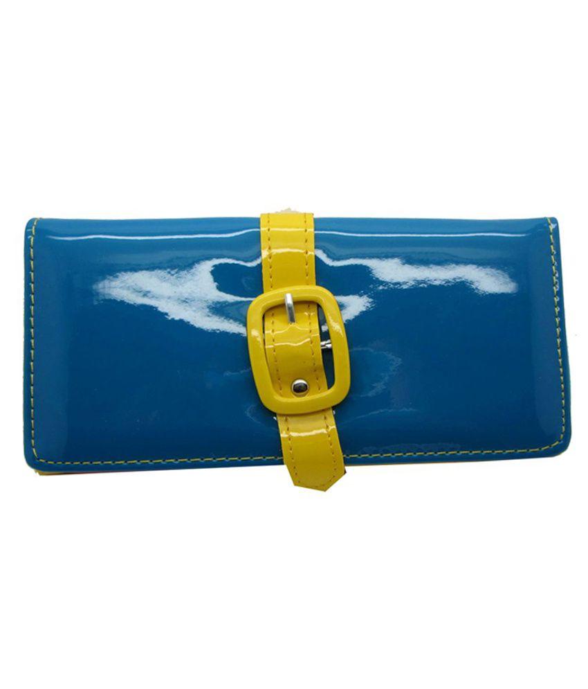 Cilver Fashion Shine Elegant Yellow Blue Wallet