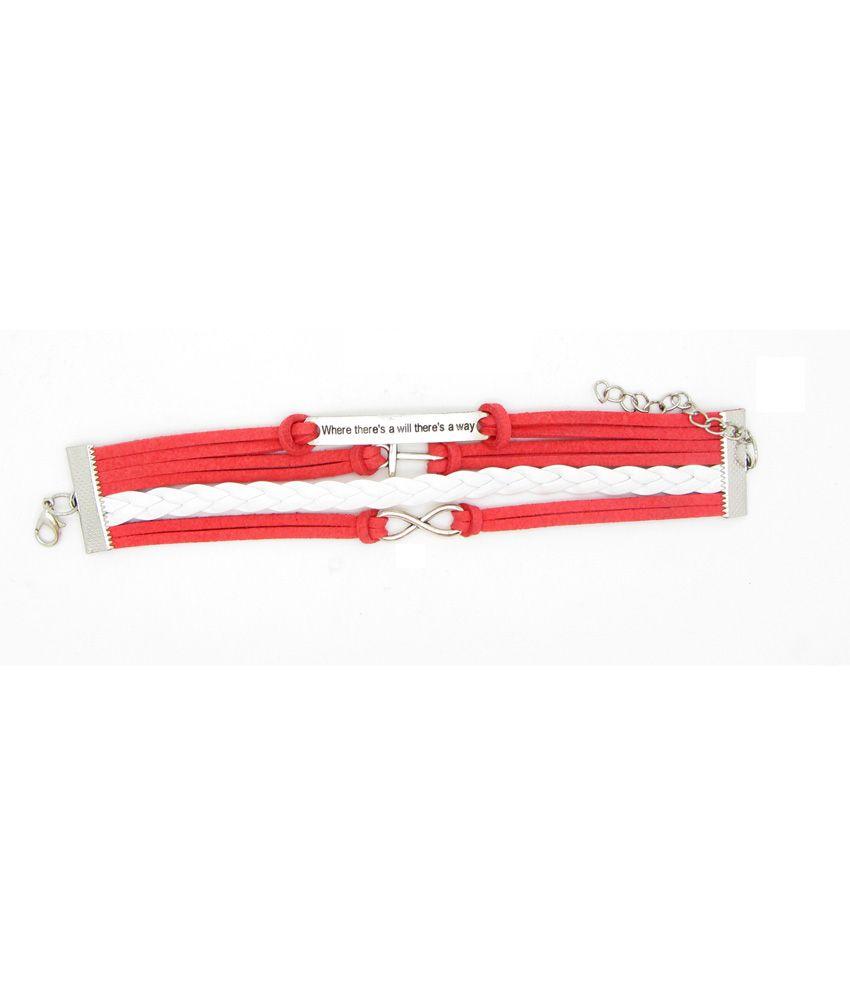 Fashion Cilver Fashion White Adjustable Casual Hit Designer Bracelet (Transperant)