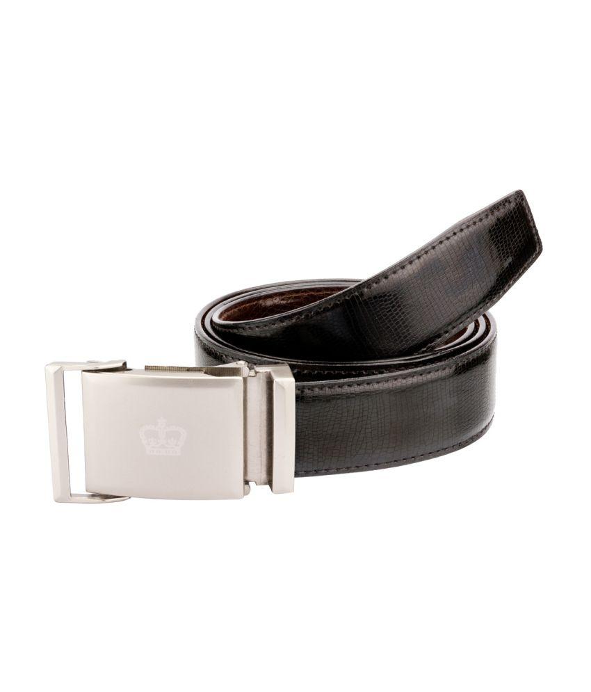 Bigzee Elegant Classy Reversible Brown And Black Belt