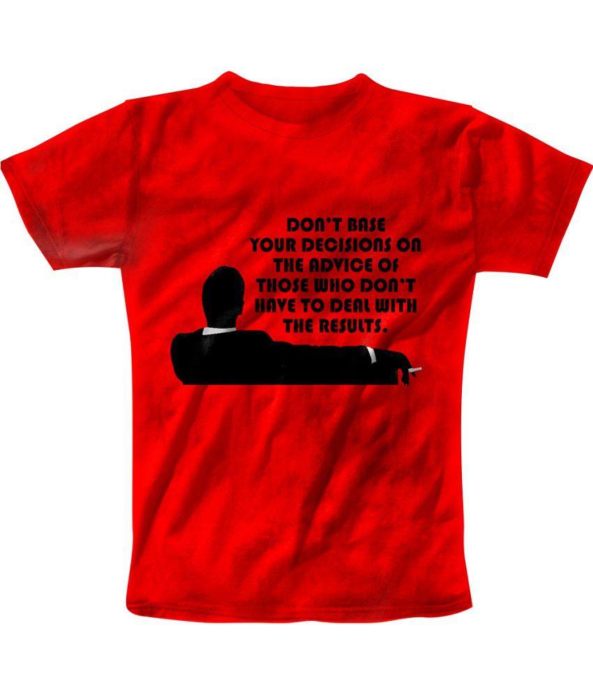 Freecultr Express Red Cotton Blend T-shirt