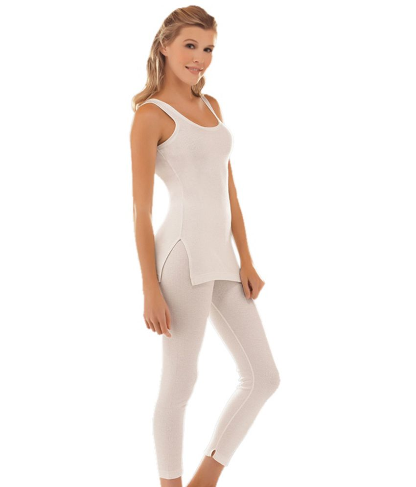 e85c7ed232c91 Buy Jockey Thermal Pair Of Off White Camisole Top & Legging Online at Best  Prices in India - Snapdeal