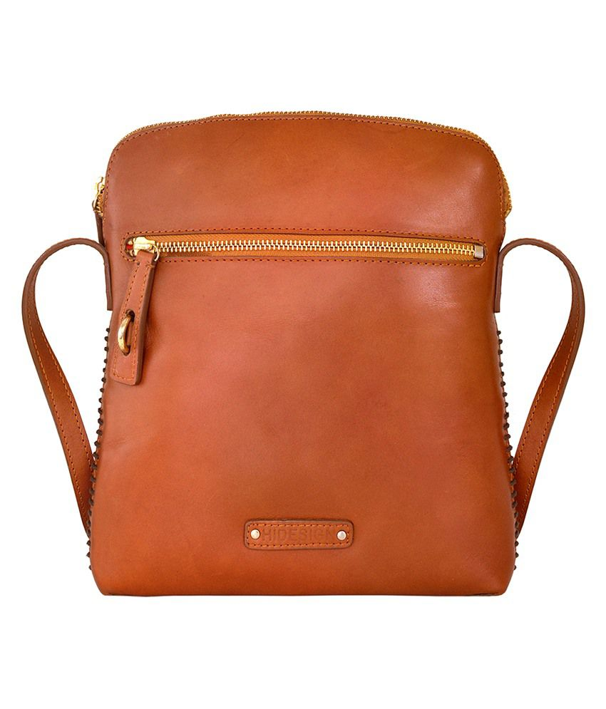 5828838dea Hidesign ASCOT 03 Tan Leather Sling Bag - Buy Hidesign ASCOT 03 Tan Leather Sling  Bag Online at Best Prices in India on Snapdeal