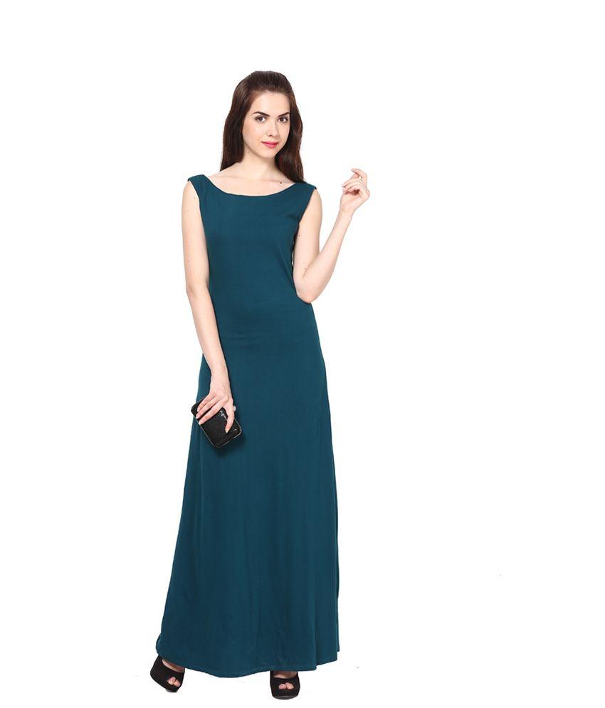 Eavan Green Cotton Maxi Dress - Buy Eavan Green Cotton Maxi Dress ...