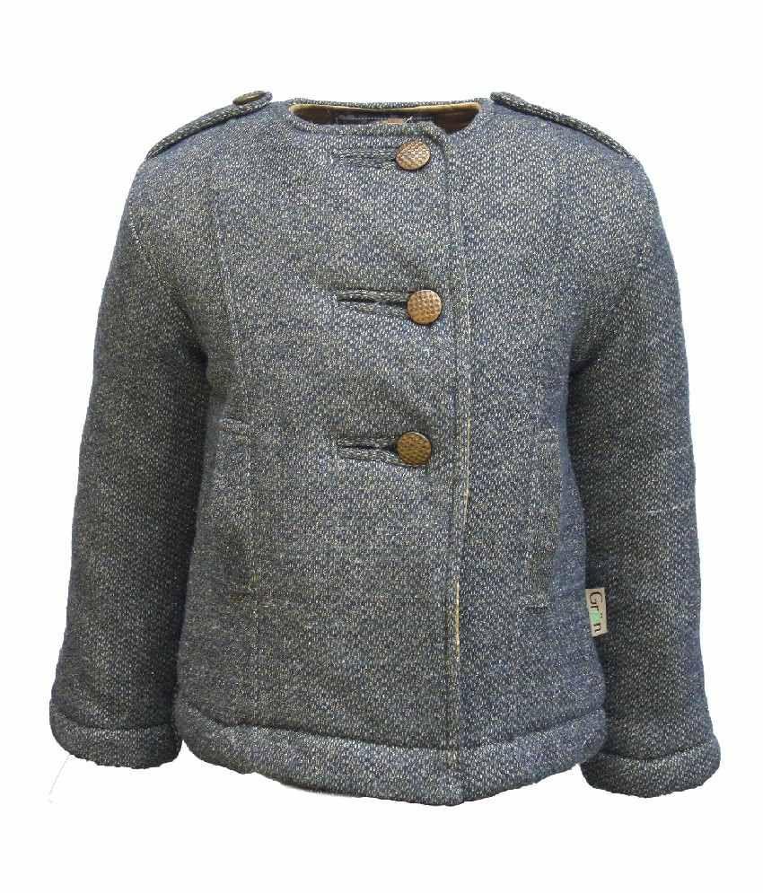 Gron Stockholm Full Sleeves Grey Color Jacket For Kids