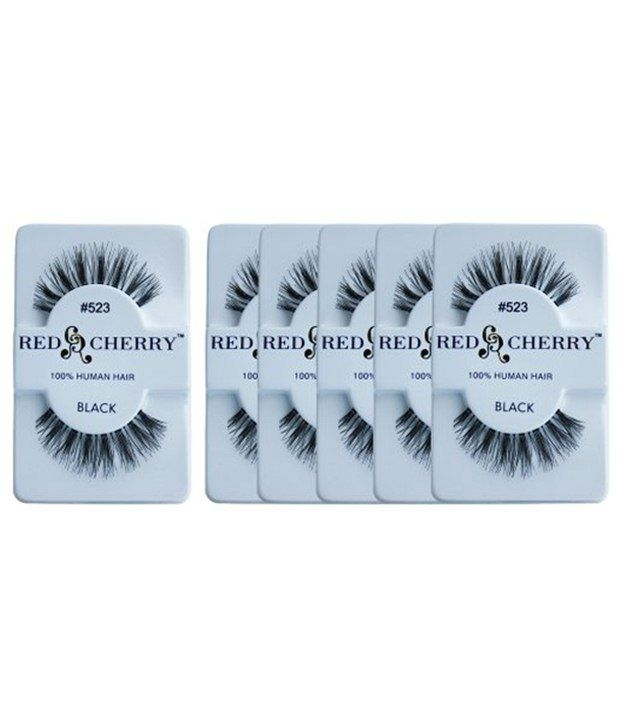 Red Cherry Natural Black False Eyelashes Pack Of 6 Pairs Buy Red