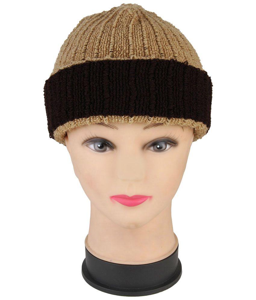 Renzer Beige Wool Caps