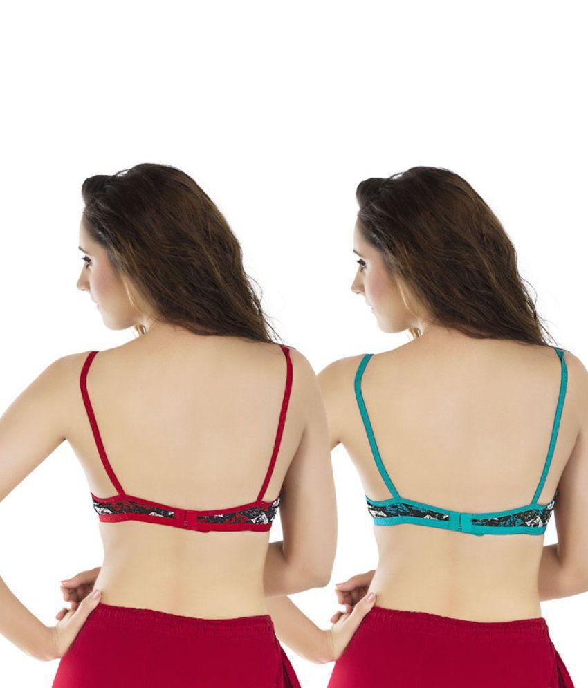 ff3ada176c Buy Status Multi Color Cotton Bra Online at Best Prices in India ...