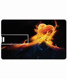 Printland Fire Heart 8 Gb Card 8 Gb Pen Drivesmulticolor
