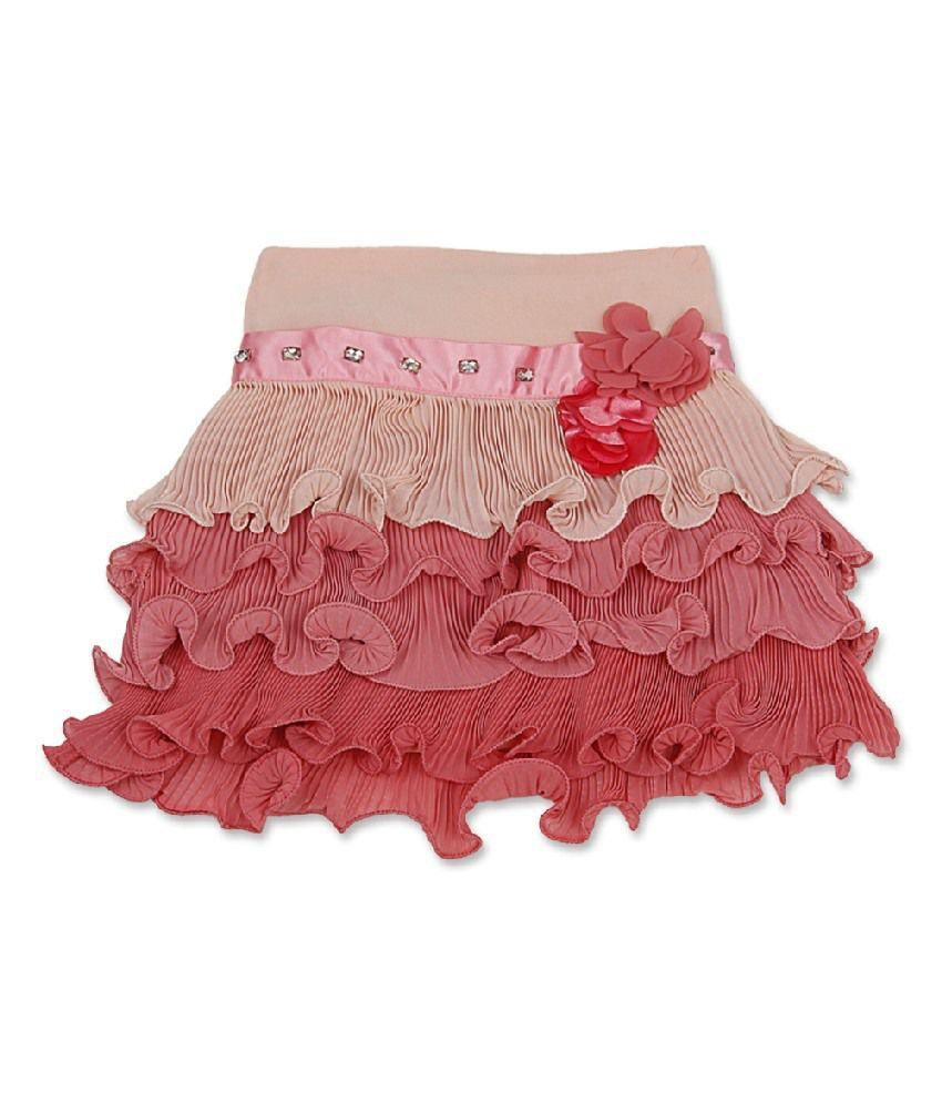 Cutecumber Peach Color Skirt For Girls