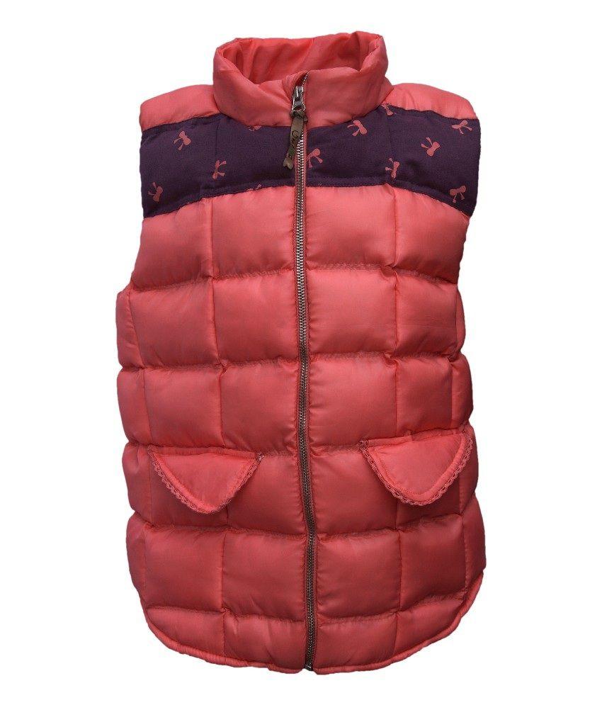 Gron Stockholm Sleeveless Pink Color Vest For Kids