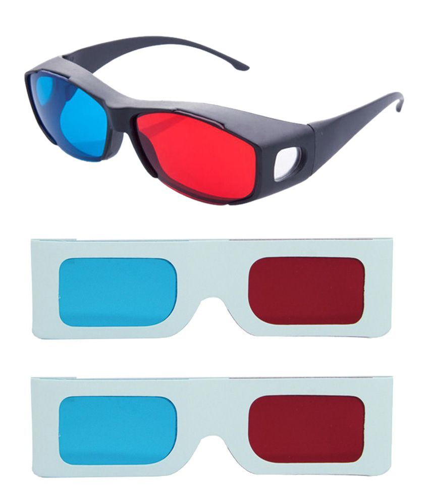 Hrinkar Updated Version 2015 New Model Anaglyph 3d Glasses Red And Cyan 1 Plastic +2 Paper Offer ( 3d Glass )