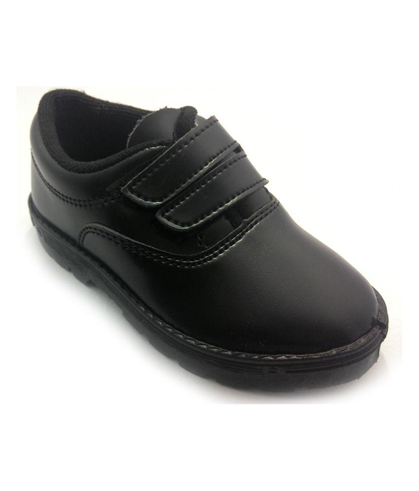 Liberty Black Faux Leather School Shoes