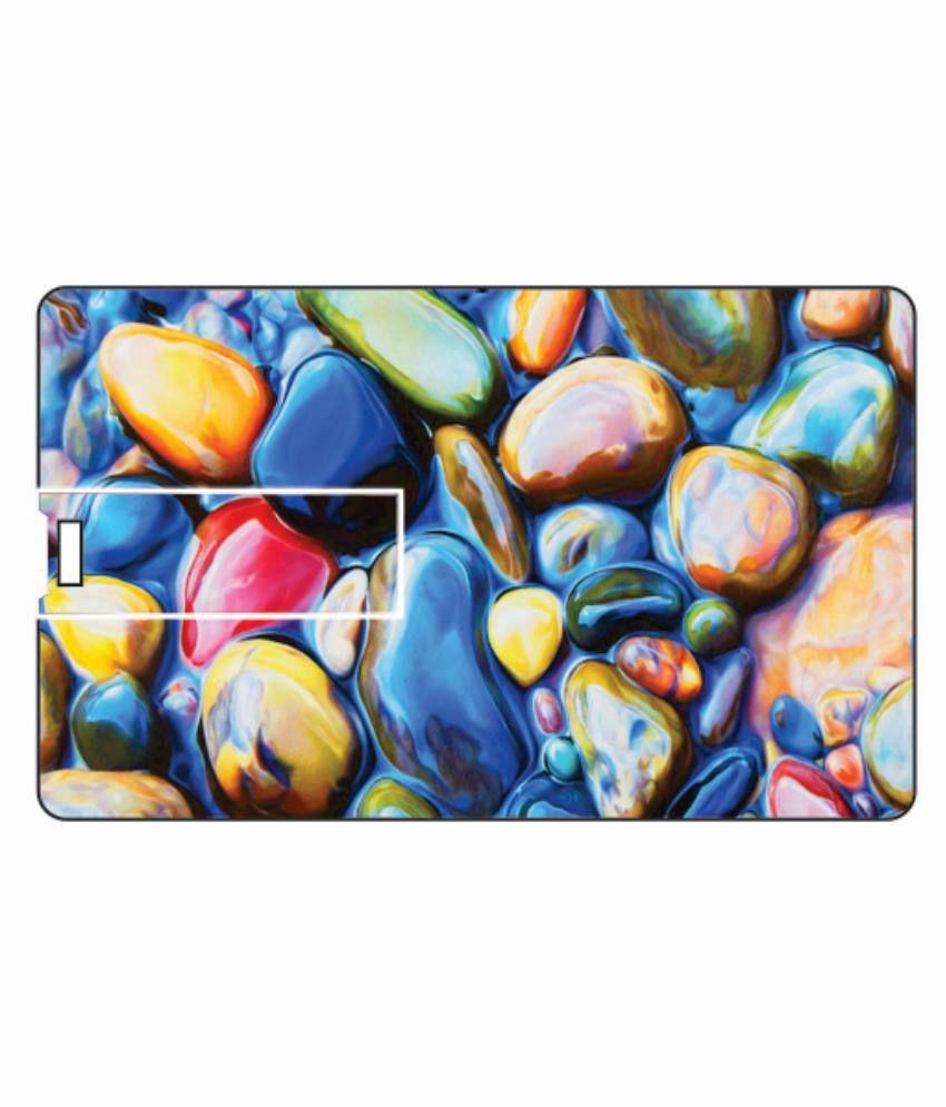 Printland Water Stones 8 Gb Card 8 Gb Pen Drivesmulticolor