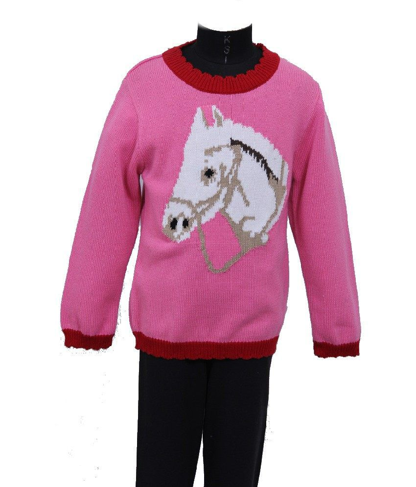 3SW Full Sleeves Pink Color Sweater For Kids - Buy 3SW Full ...