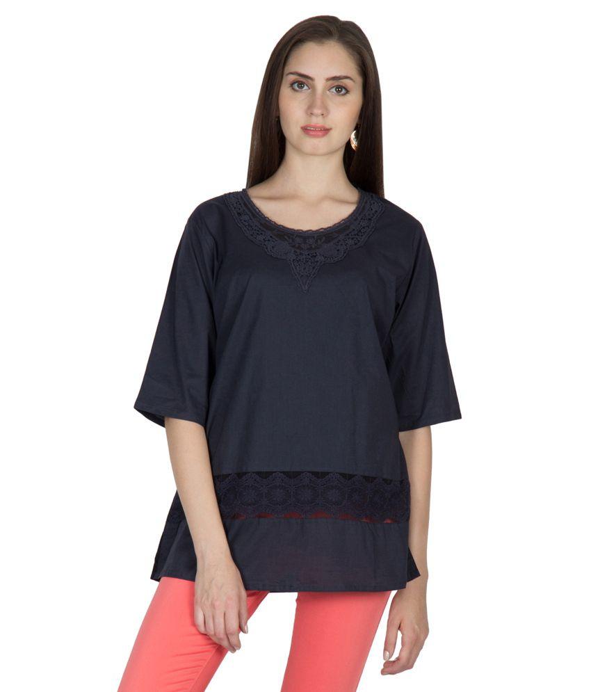 U&F Blue Cotton Tunics