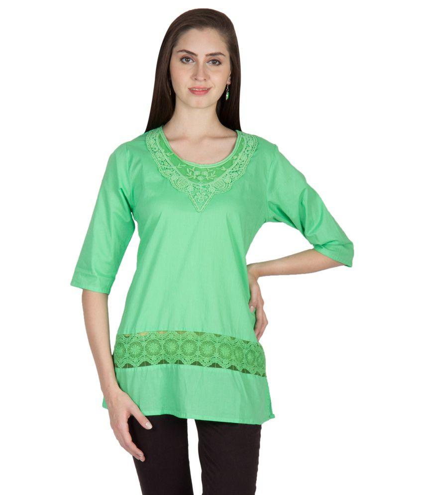 U&F Green Cotton Tunics