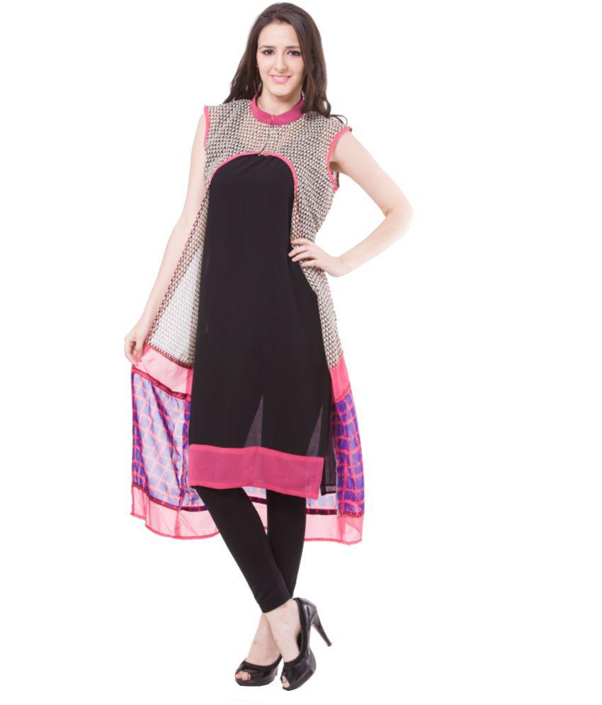 Vivaa Designer Sleeveless Women S Long Kurti Buy Vivaa