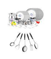 Airan Dinner Set And 5 Pcs Kitchen Tools Set - 37 Pcs