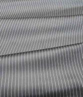 Gentleman Polyblend Black Striped Design Pant Piece