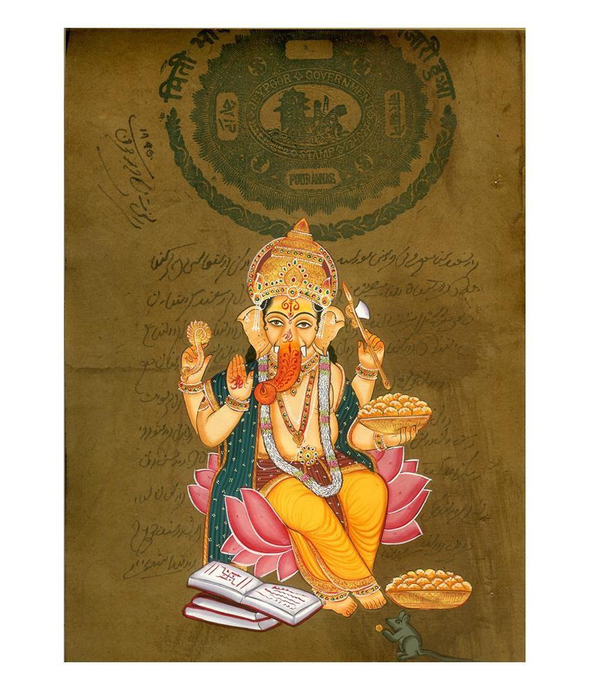 Konark Lord Ganesh Old Stamp Painting
