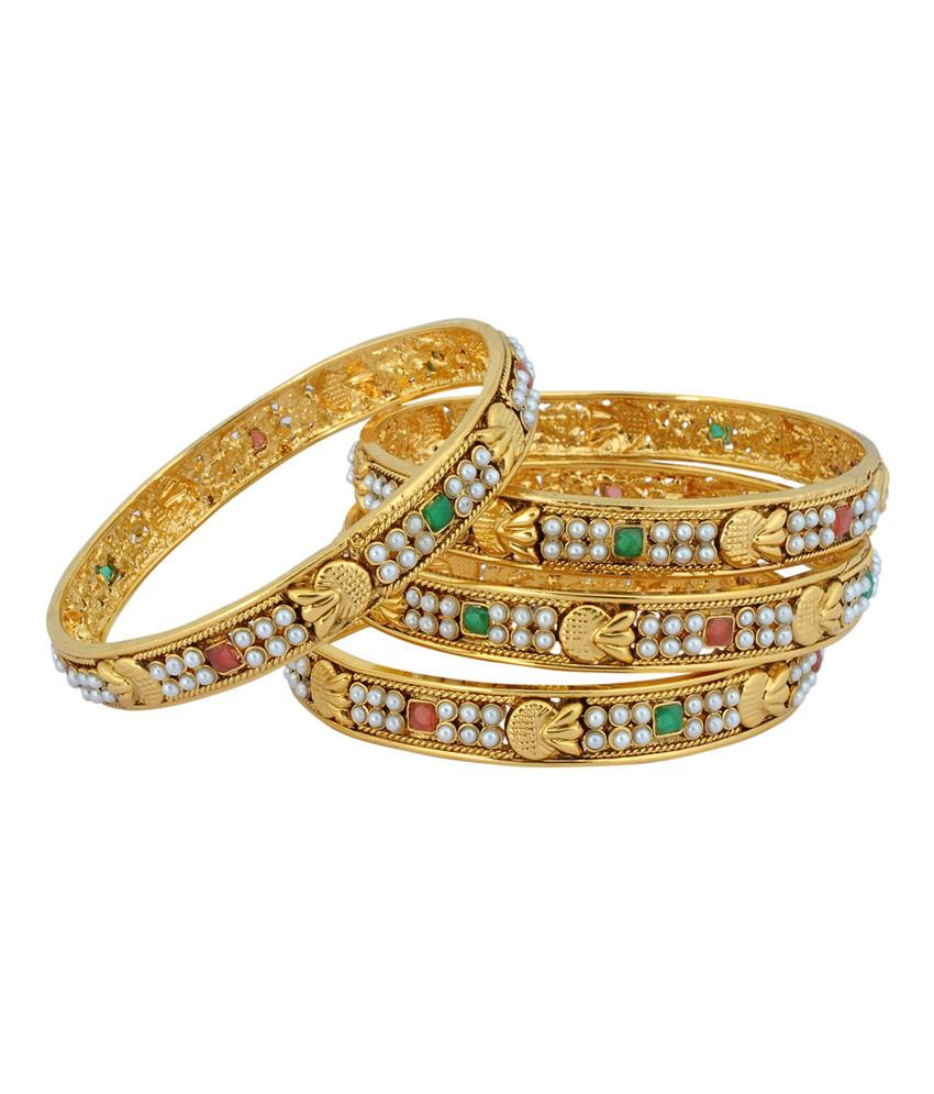 Luxor Beads & Gold Plated Bangles