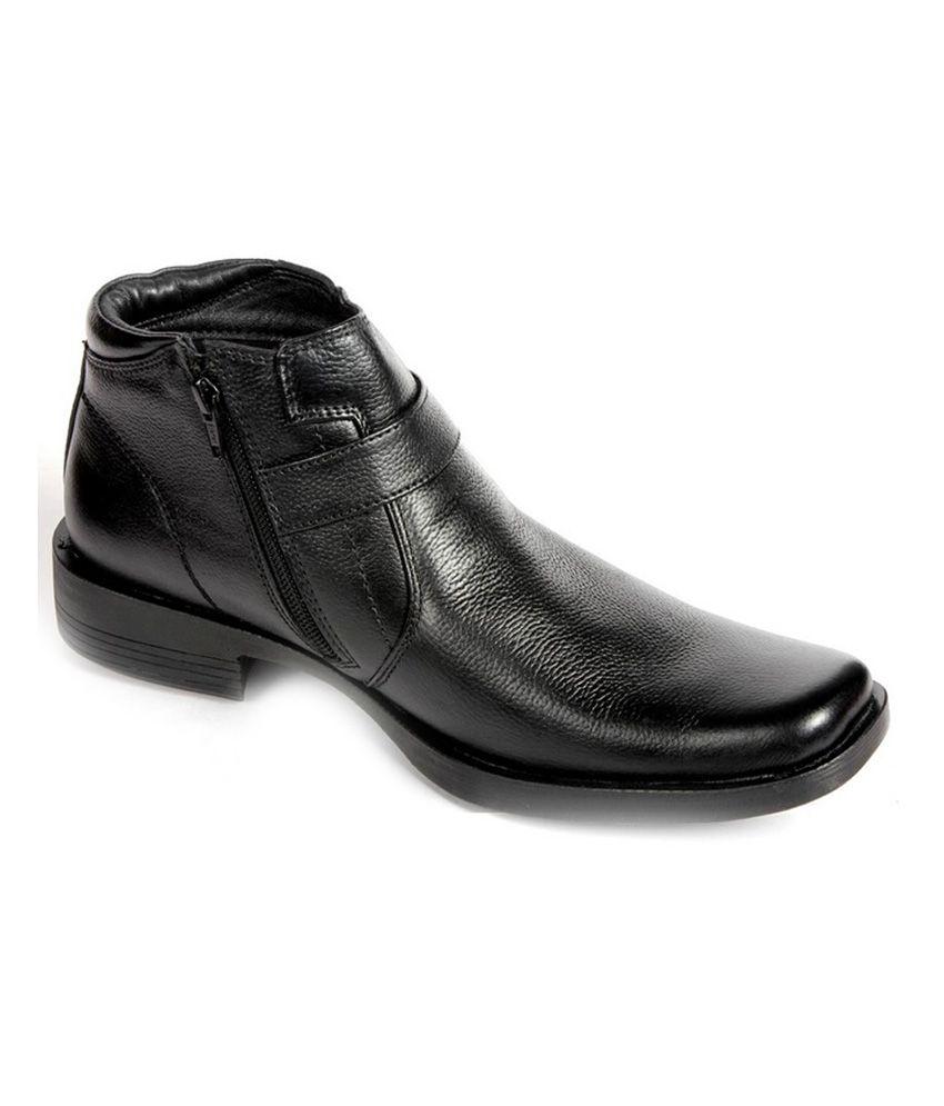 Numero Uno Leather Black Boot