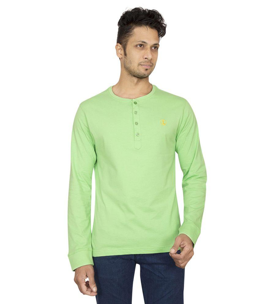 Red Line Men's Green Cotton T-shirt