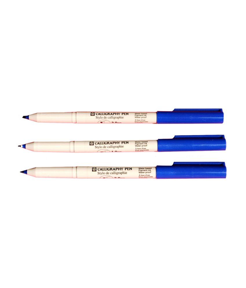 Sakura calligraphy pens blue pack of mm