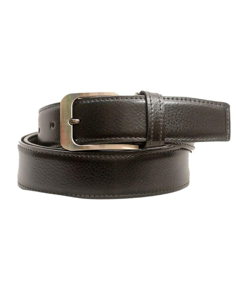 Fashion Factory Black Leather Formal Belt For Men