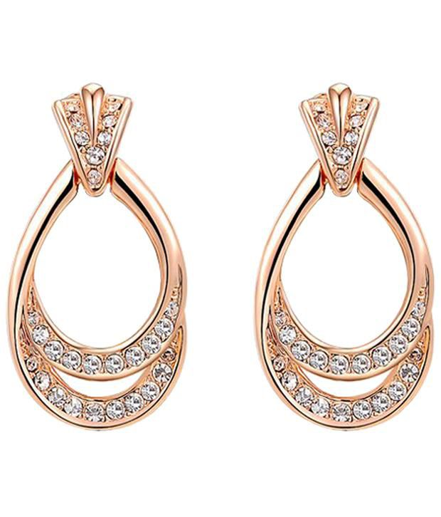 Kaizer Jewelry 18k Golden Hanging Earrings